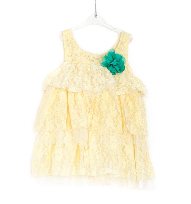 licht geel jurkje