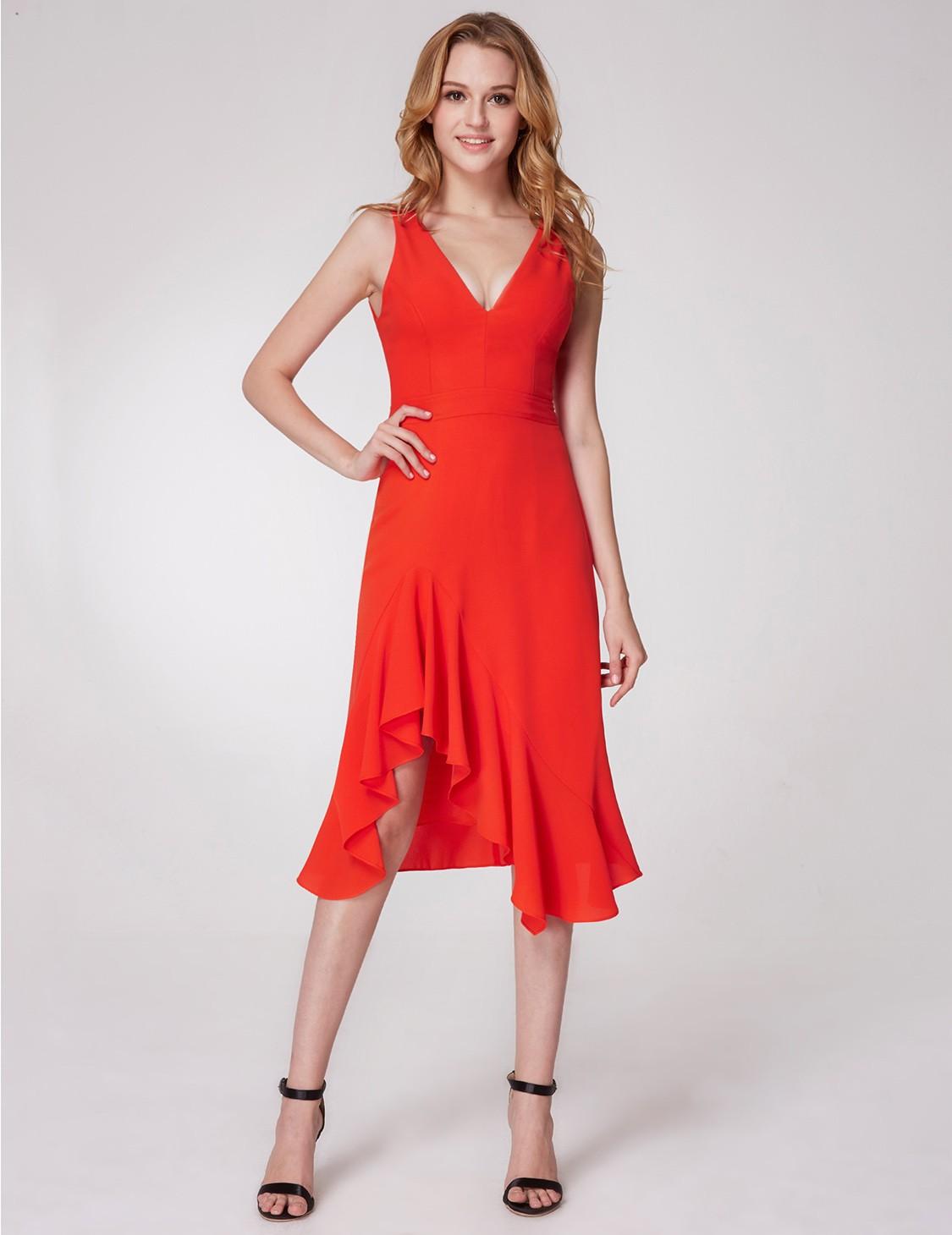 d2d5167d1d9d84 Rood zomers jurkje met salsa look Vera