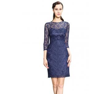 901ff5f8f Kanten jurk met mouwtjes Merel