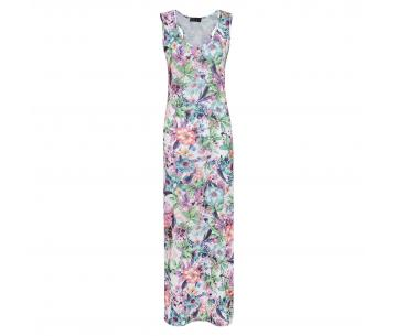 Maxi dress bloemenprint Roos