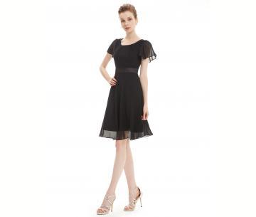 zwarte jurk trouwfeest
